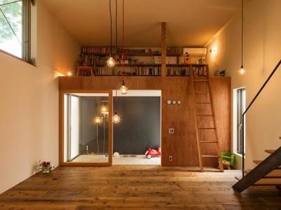 1階リビング-2(撮影:村井 勇) (y house)