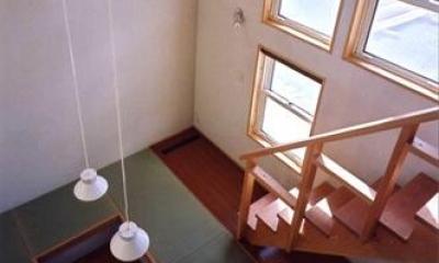 ロフトより畳スペースを見下ろす(撮影:絹巻豊)|菩提寺の家