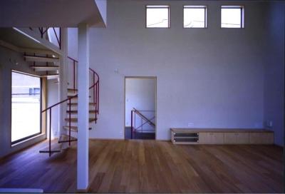 西浜の家 (リビング(撮影:絹巻豊))