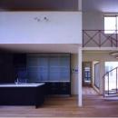 キッチンと螺旋階段(撮影:絹巻豊)