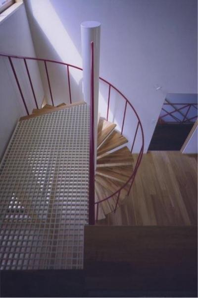 螺旋階段(撮影:絹巻豊) (西浜の家)