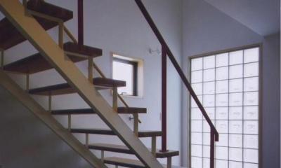 西浜の家 (明るい階段室(撮影:絹巻豊))