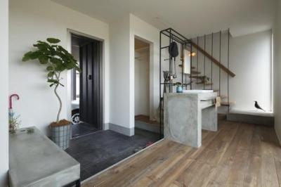 階段・洗面 (水口の家)