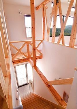回遊の家 1の部屋 吹き抜けの階段