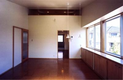 ギャラリーのある家 (2階リビング(撮影:絹巻豊))