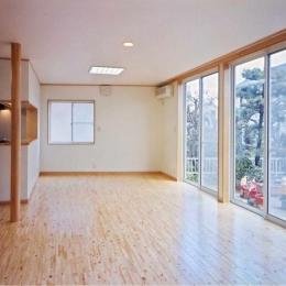 魚崎の家 (明るいLDK(撮影:坂本))