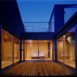 CH5(中庭のある家05) (中庭夜景)