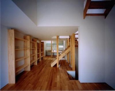 2階リビング(撮影:市川かおり) (tt-house)