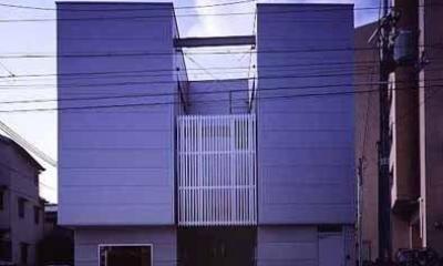 敷地が18坪の家 (外観-正面(撮影:市川かおり))