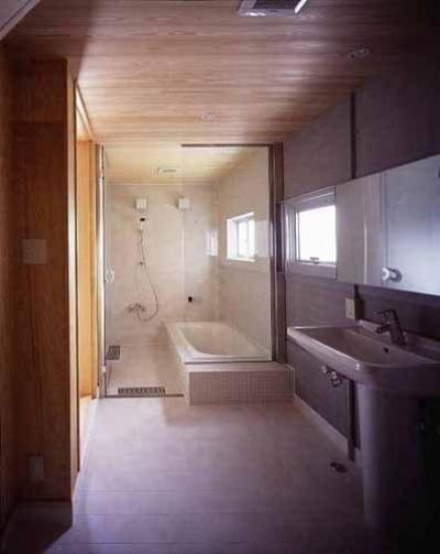 浴室・洗面(撮影:市川かおり) (敷地が18坪の家)