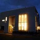 光格子の家の写真 外観-夜景