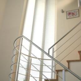 光格子の家 (柔らかな光を取り込む階段)