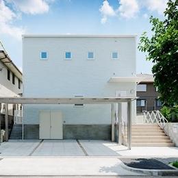ミントブルーの家 (ミントブルーの外観1)