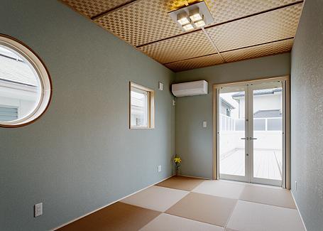 ミントブルーの家の部屋 和室