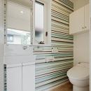ミントブルーの家の写真 トイレ