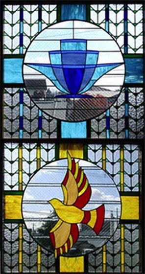 函館シオン教会の写真 ステンドグラス
