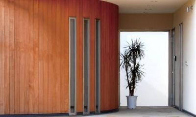 玄関 アール壁