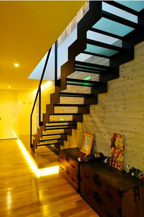 Glass Houseの部屋 階段(撮影:KEN五島)