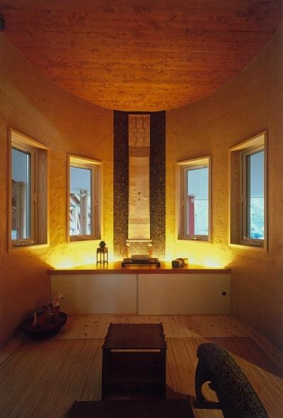 和のお部屋 (住まう人と共にリズムを刻む家)