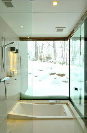 Glass Houseの部屋 浴室(撮影:KEN五島)