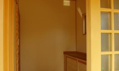 玄関|平屋 純和風スタイル 幸せエコ住宅