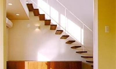和室より階段を見る(撮影:喜多章)|米が瀬町の家