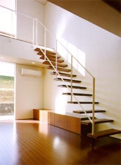 米が瀬町の家 (階段1(撮影:喜多章))