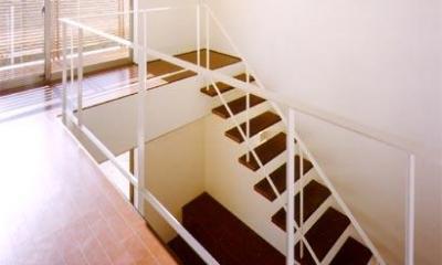 米が瀬町の家 (階段2(撮影:喜多章))