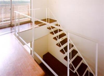 階段2(撮影:喜多章) (米が瀬町の家)