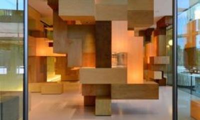 ギャラリー入口|JAISTギャラリー(松田達建築設計事務所との共同設計))