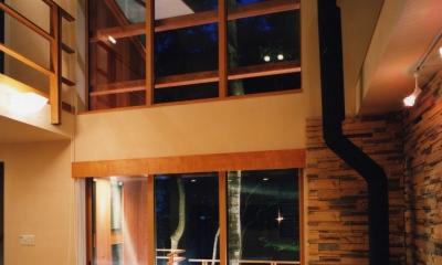 木立の家 (居間)