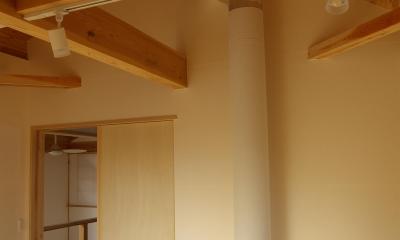 寝室|パッシブソーラー(そよ風)の小さな木の家