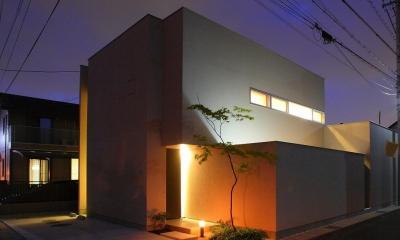 外観夜景|清須の家