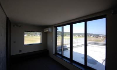 和室(ペントハウス)|呉羽山を望む事務所兼住宅