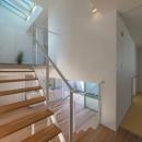 尾張旭の住宅の写真 階段(撮影:谷川ヒロシ)