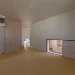 尾張旭の住宅 (中2階和室(撮影:谷川ヒロシ))