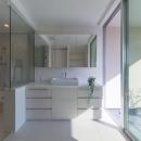 尾張旭の住宅の写真 洗面・浴室(撮影:谷川ヒロシ)