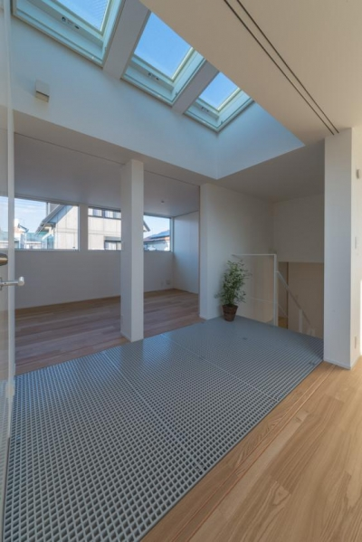 階段ホール(撮影:谷川ヒロシ) (尾張旭の住宅)