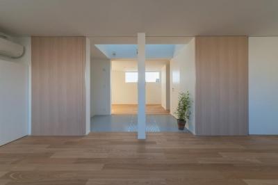 尾張旭の住宅 (ベッドルーム(撮影:谷川ヒロシ))