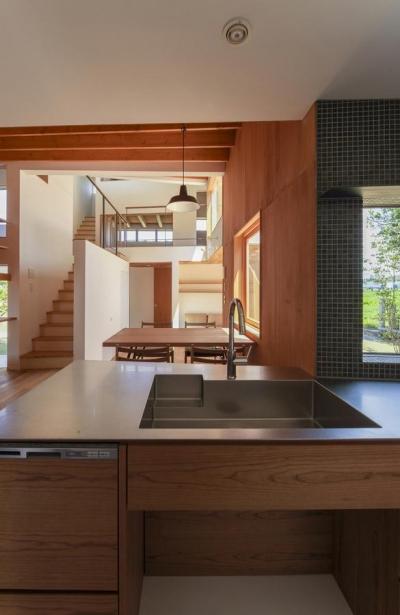 キッチンからの眺め(撮影:多田ユウコ) (東員の住宅)