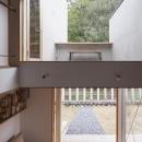 東員の住宅の写真 階段よりルーフテラスを見る(撮影:新建築写真部)