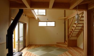 薪ストーブの木の家 スローライフ (リビング)