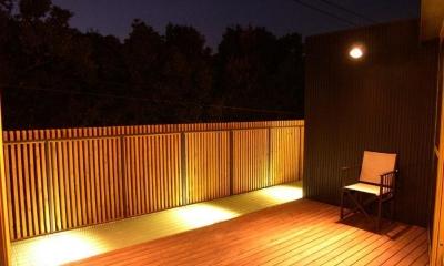 ルーフテラス(夜景)|都筑の家