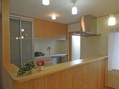 木目調のキッチン (house-MSH)