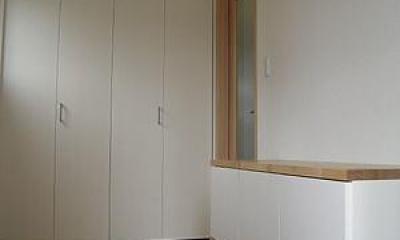 大容量収納のある玄関|house-MTH