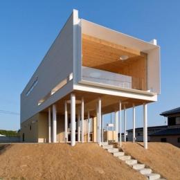 『まどにわ』〜風・光・緑・景色が楽しめる住まい〜の写真 大きな軒下のある家-外観1