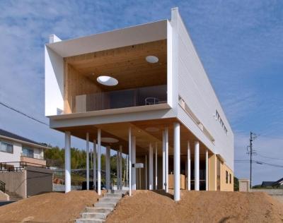 大きな軒下のある家-外観2 (『まどにわ』〜風・光・緑・景色が楽しめる住まい〜)