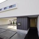 二世帯住宅-正面玄関