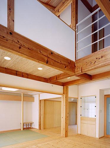 『ドームのある家』〜天体観測もできる!人にも環境にも優しい家づくり〜の部屋 吹き抜けの大空間リビング