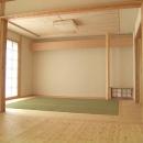 『ドームのある家』〜天体観測もできる!人にも環境にも優しい家づくり〜の写真 リビング内のシンプルモダンな和室